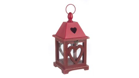 immagine del prodotto Lanterna Clarissa legno rosso
