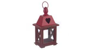 Lanterna alinka legno rosso