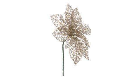 immagine del prodotto Pick Poinsettia traforata champagne
