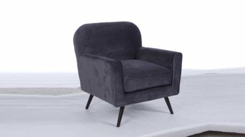 immagine del prodotto Poltrona Lydia velluto grigio