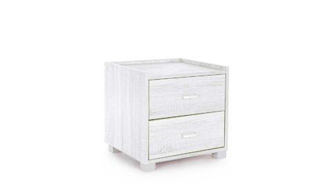 immagine del prodotto Comodino 2 cassetti Leonardo bianco