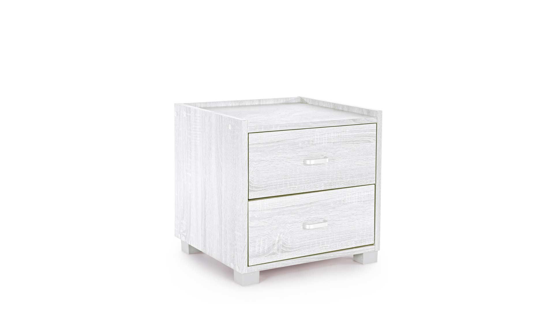 immagine in evidenza della pagina Comodino 2 cassetti Leonardo bianco