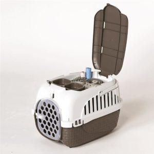 il trasportino tour per animali è dotato di un pratico vano porta oggetti