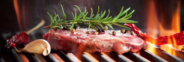 carne al barbecue grigliata gratis fiera delle occasioni