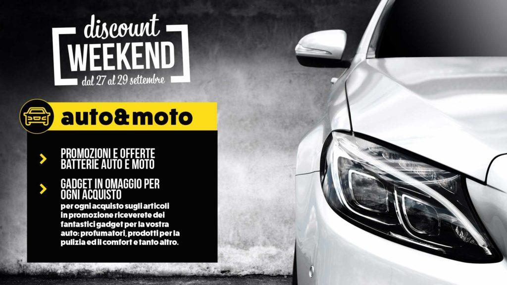 sconti accessori auto e moto discount weekend